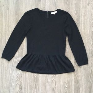 LOFT• Long Sleeve Peplum Sweater